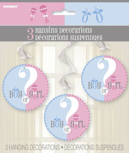 Gender Reveal Hanging Swirl Decorations (3)